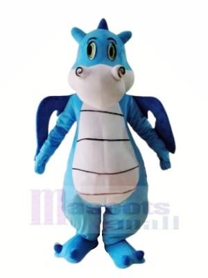 Mignonne Bleu Dinosaure Mascotte Les costumes Animal