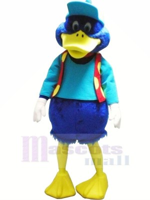 Bleu canard avec rouge Gilet Mascotte Les costumes Animal