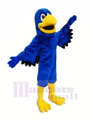 Bleu Faucon avec Noir Ailes Mascotte Les costumes Animal