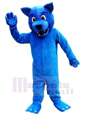 Marrant Bleu Léopard Mascotte Les costumes Animal