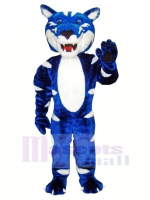 Bleu et blanc Sauvage Chat Mascotte Les costumes Animal