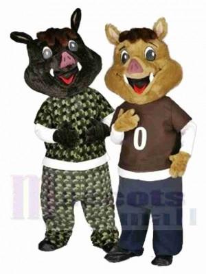Frères sangliers Costume de mascotte