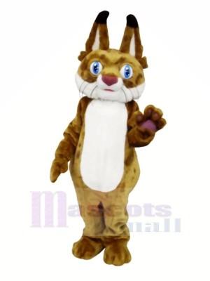 Lynx avec Gros Les yeux Mascotte Les costumes Animal
