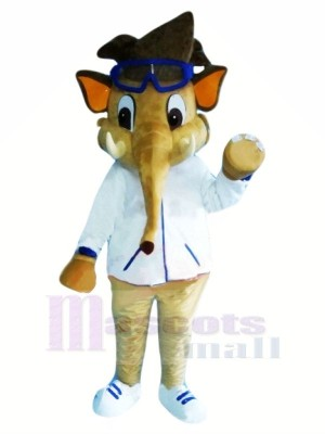 Garçon l'éléphant avec Des lunettes Mascotte Les costumes Animal