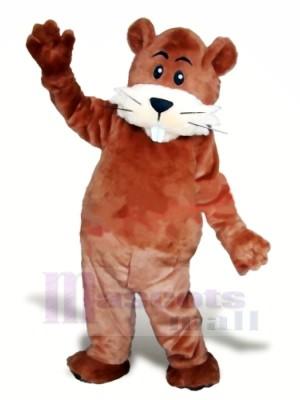 Mignonne marron Castor Mascotte Les costumes Animal