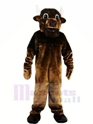 Fort marron Taureau Mascotte Les costumes Animal