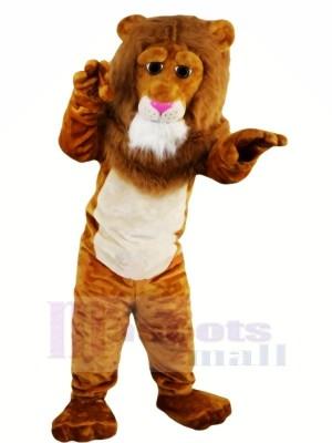 marron Lion avec Longue Queue Mascotte Les costumes Animal