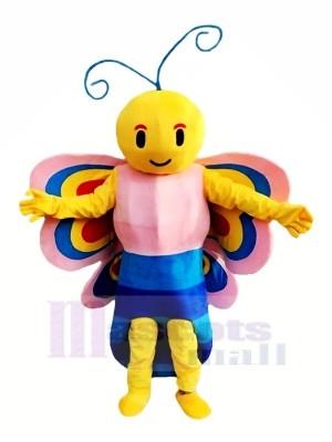 Belle Papillon avec Coloré Ailes Mascotte Les costumes Animal