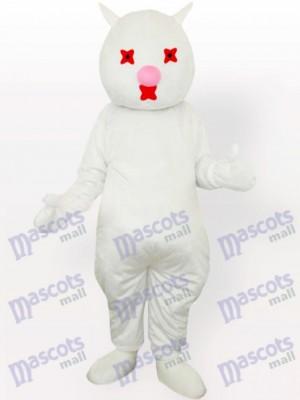 Costume de mascotte adulte chat blanc