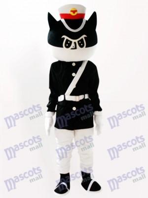 Costume de mascotte adulte Cartoon Black Cat Detective