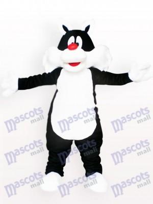 Costume de mascotte de chat noir