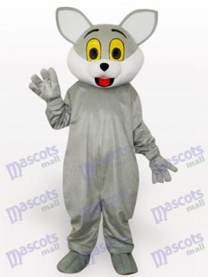 Costume de mascotte adulte chat gris animal