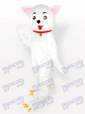 Costume de mascotte adulte rose des chats Kitty Cat blanc