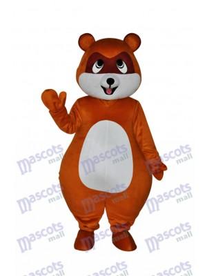 Costume de mascotte de chat de civette de Brown jaune Animal