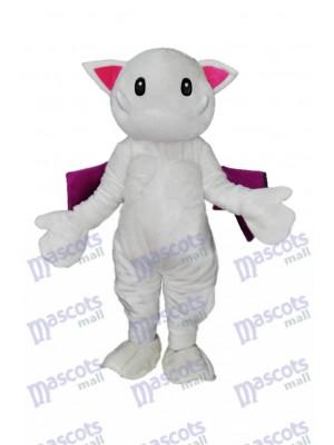 Dents effrayantes Mascotte de chat blanc Monster Costume Animal