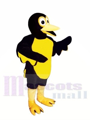 Jaune et Noir Coucou Oiseau Mascotte Les costumes Animal