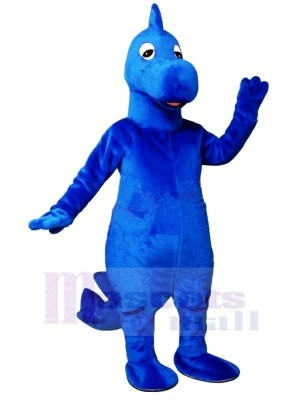 Dilly Bleu Dinosaure Mascotte Les costumes Animal