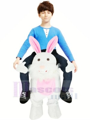 Porter Moi Pâques lapin Porcin Arrière Mascotte Des gamins Balade Sur Drôle Fantaisie Robe Costume
