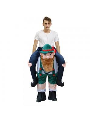 Bière Homme Écossais Lutin Porter moi Balade sur Halloween Noël Costume pour Adulte/enfant