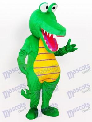Costume drôle de mascotte de crocodile de dessin animé