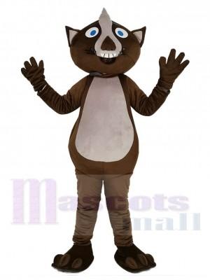 marron Wombat Mascotte Costume Animal
