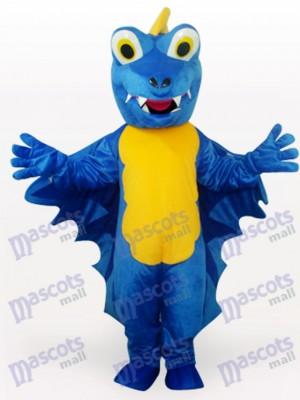 Costume drôle de mascotte adulte bleu dinosaure