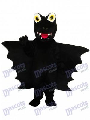 Déguisement de mascotte dinosaure noire adulte Costume Animal