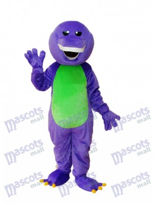 Purple Barney Dinosaur mascotte Costume adulte Animal