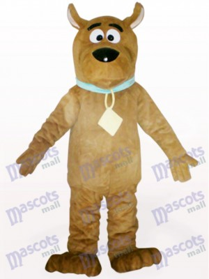 Costume de mascotte adulte chien brun animal