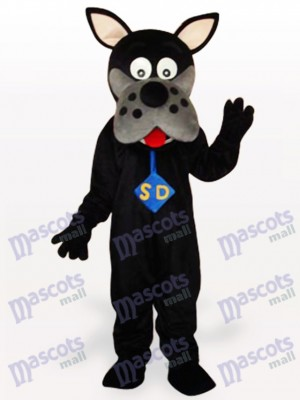 Costume de mascotte adulte chien noir
