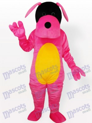 Costume de mascotte adulte chien rose
