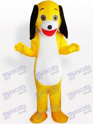 Costume de mascotte adulte petit chien jaune