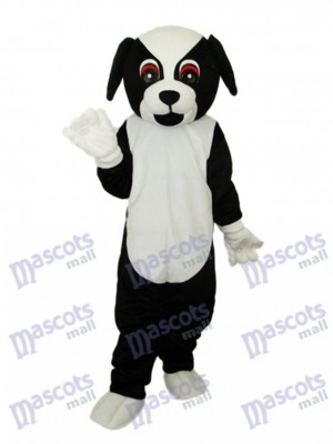 Mascotte de chien noir Costume adulte Animal