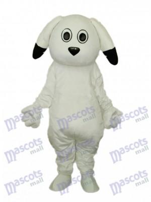 Déguisement de mascotte chien blanc oreilles noires Animal