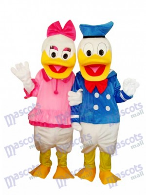 Donald Duck Couple Mascotte Costume Adulte Cartoon Anime