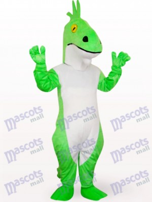 Costume de mascotte animale Dragon vert