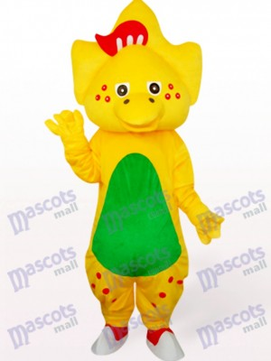 Déguisement de dragon étoilé en mascotte jaune
