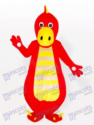 Costume de mascotte adulte dragon rouge