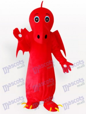 Costume de mascotte adulte dragon chinois rouge