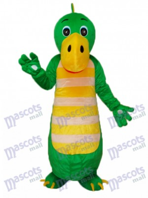 Costume de mascotte Dragon vert chinois adulte