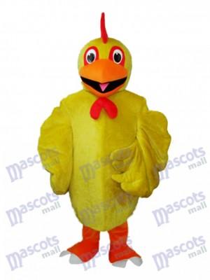 Costume de mascotte adulte poulet jaune