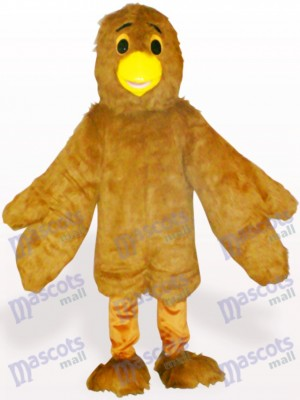 Costume de mascotte adulte aigle marron