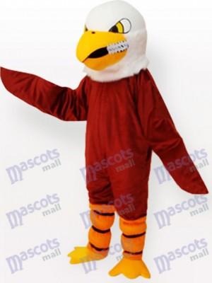 Costume drôle de mascotte adulte aigle marron