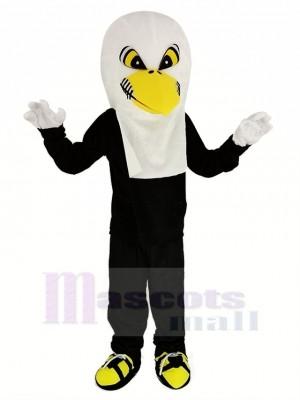 blanc Aigle avec Noir Manteau Mascotte Costume Adulte