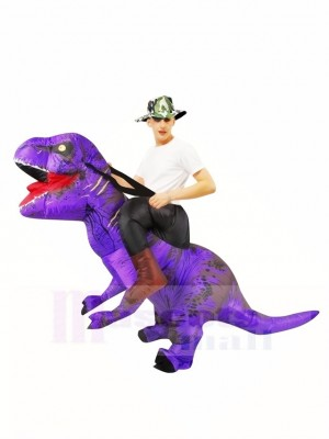 Tyrannosaure violet T-Rex Gonflable Porte moi Ride On Costume