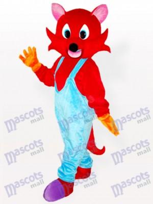 Costume de mascotte adulte en renard bleu