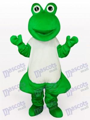 Costume drôle de mascotte adulte vert grenouille