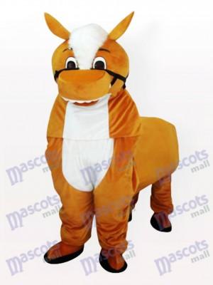 Costume de mascotte adulte petit cheval brun