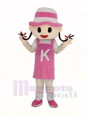 Rose Chapeau Fille Mascotte Costume Personnes