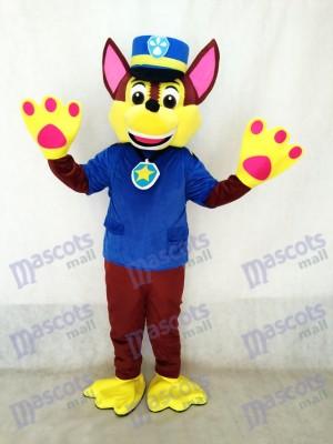 La Pat' Patrouill Paw Patrol Costume de mascotte de chien Chase Costume de chien espion de berger allemand